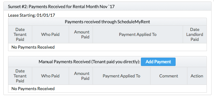 Collect Rent Online - Manual Tenant Payment