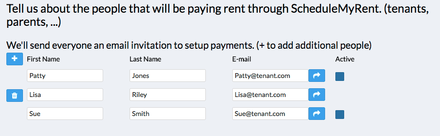 Collect Rent Online - Roommate Signup