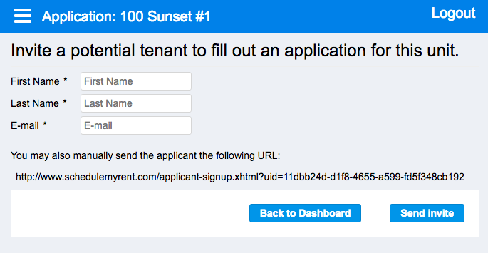 Landlord Software - Send Online Rental Applicaiton