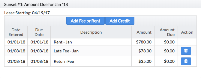 Landlord Software - Waive Fee